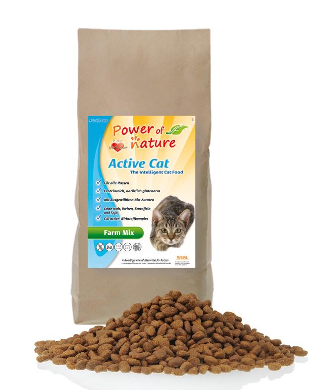 Suha hrana za mačke Farm Mix z BIO piščancem in rižem
