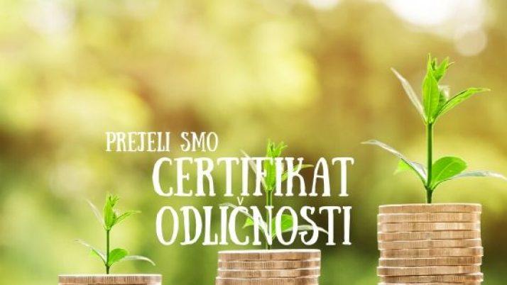 Prejeli smo certifikat bonitetne odličnosti